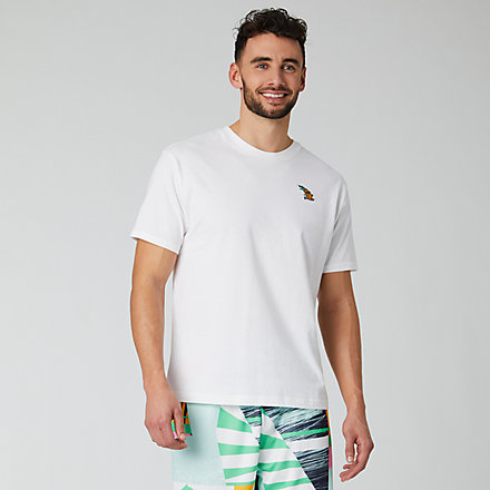 NB NB Athletics Tropic Pineapple Tee, MT01549WT image number null