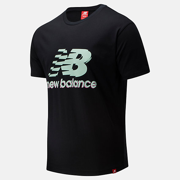 New Balance Essentials Lofi Stack Tee, MT01553BK