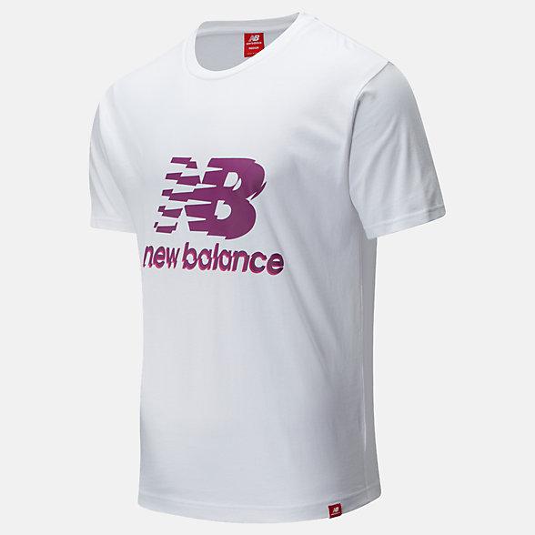 New Balance Essentials Lofi Stack Tee, MT01553WT