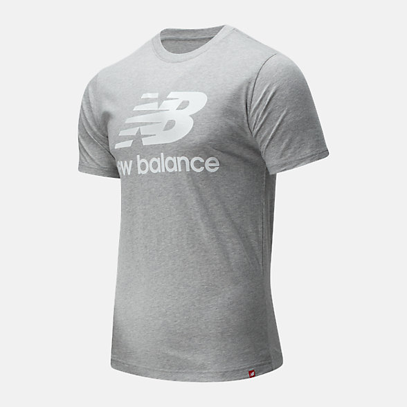 New Balance Essentials Stacked Logo Tee, MT01575AG