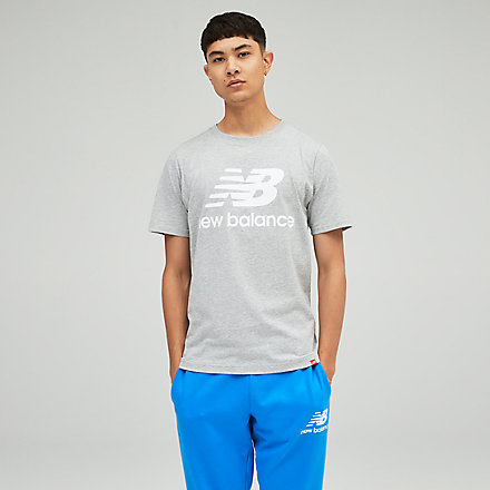 New Balance Essentials Stacked Logo Tee, MT01575AG image number null