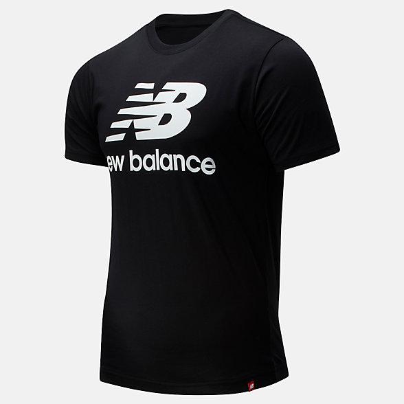 New Balance Essentials Stacked Logo Tee, MT01575BK