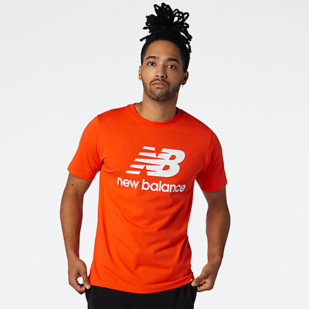 NB Essentials Stacked Logo Tee, MT01575BZ image number null
