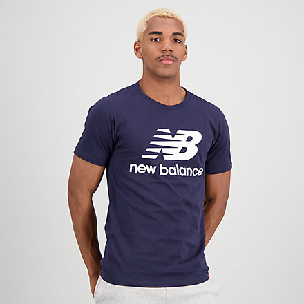 New Balance Essentials Stacked Logo Tee, MT01575ECL image number null