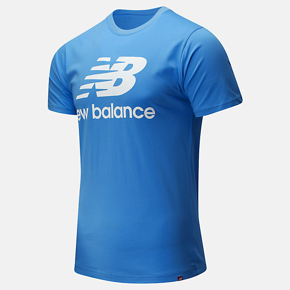 New Balance Essentials Stacked Logo Tee, MT01575FCB