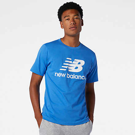 NB Essentials Stacked Logo Tee, MT01575FCB image number null