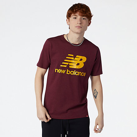 New Balance Essentials Stacked Logo Tee, MT01575GTH image number null