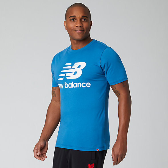 New Balance Essentials Stacked Logo Tee, MT01575MAK