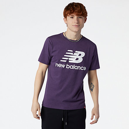 NB Camiseta Essentials Stacked Logo, MT01575PPP image number null