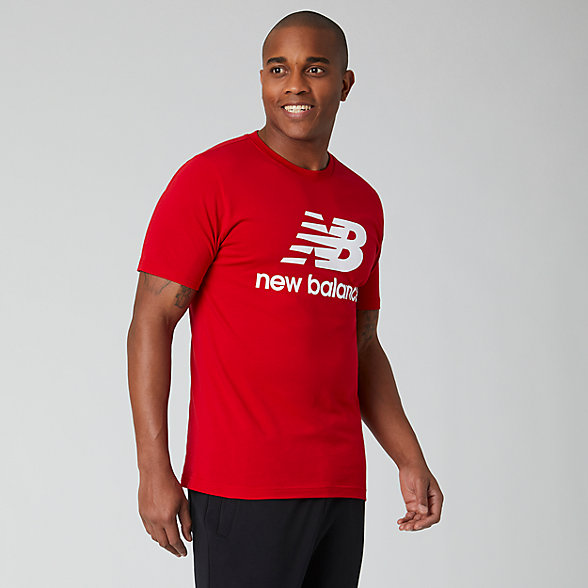 New Balance Essentials Stacked Logo Tee, MT01575REP