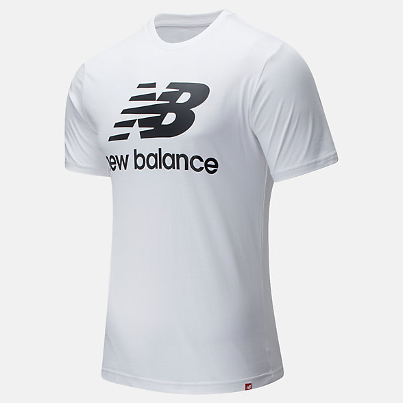 New Balance Essentials Stacked Logo Tee, MT01575WK