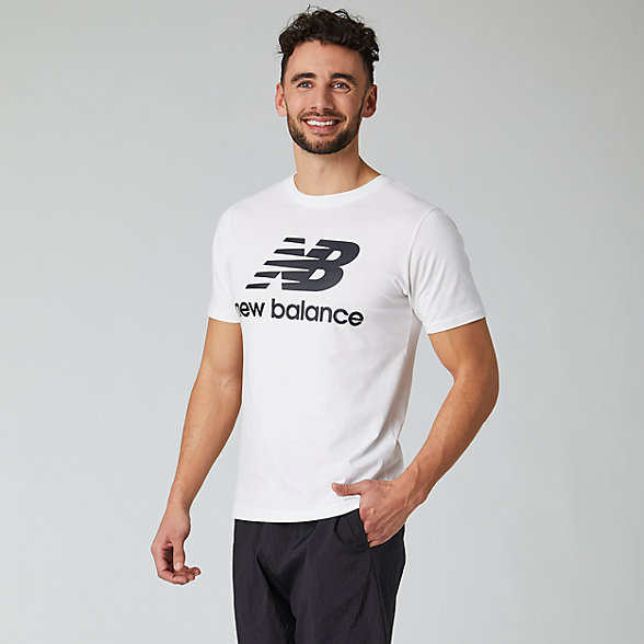 New Balance T-shirt avec logo Essentiel superposé, MT01575WK