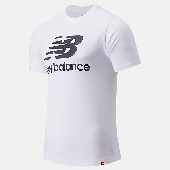 New Balance Essentials Stacked Logo Tee, MT01575WT