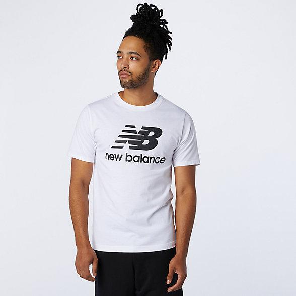New Balance Essentials Stacked Logo Tee, MT01575WT