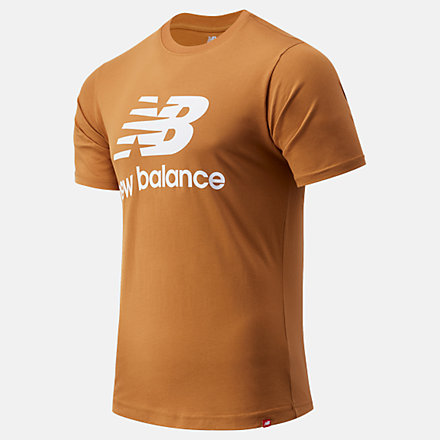 New Balance Essentials Stacked Logo Tee, MT01575WWK image number null