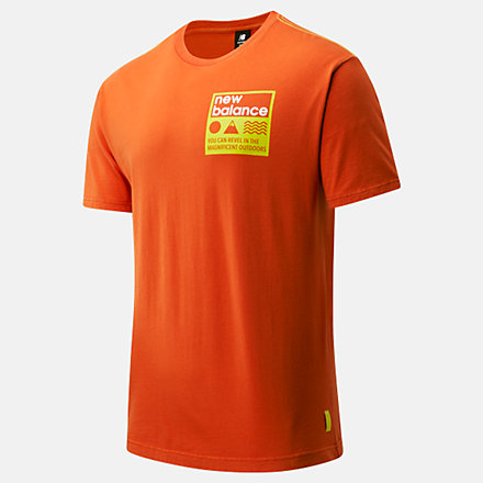 NB NB Athletics Trail Stamp Tee, MT01585DBZ image number null