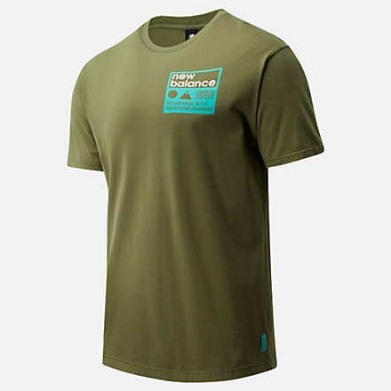 New Balance NB Athletics Trail Stamp Tee, MT01585NTG image number null