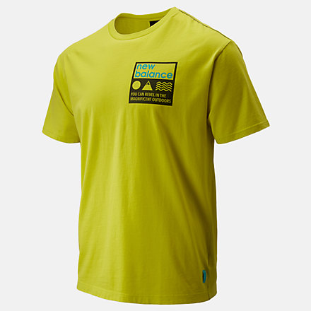 New Balance NB Athletics Trail Stamp Tee, MT01585SYE image number null