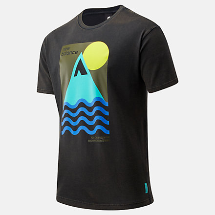 New Balance NB Athletics Trail Revel Tee, MT01586BK image number null