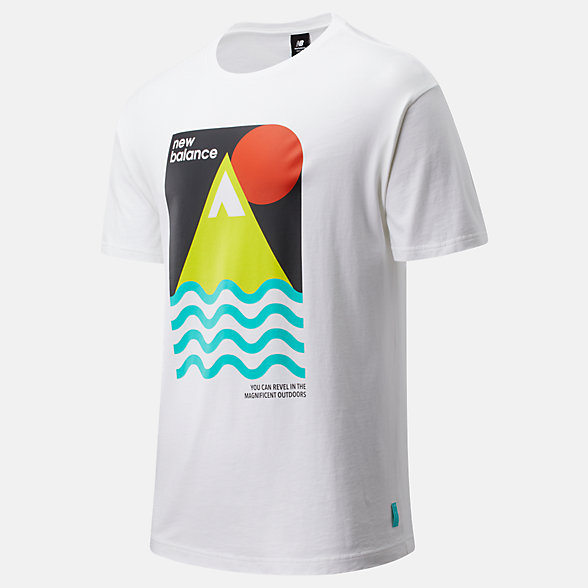 NB Camiseta NB Athletics Trail Revel, MT01586WT