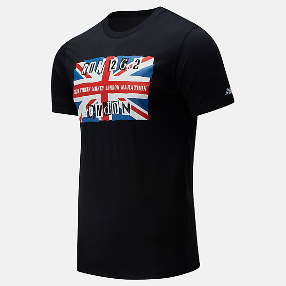 NB London Edition Flag Graphic Tee , MT01601DBK