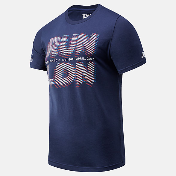 NB Camiseta London Edition Run LDN Graphic, MT01603DPGM