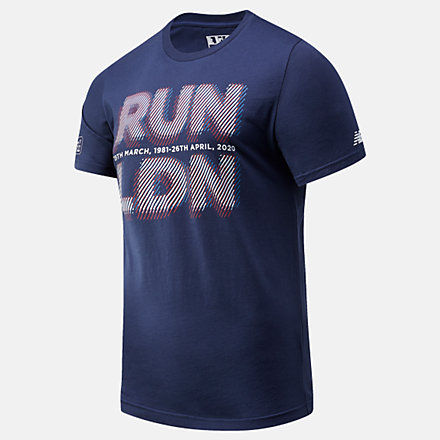 NB London Marathon Run LDN Graphic Tee, MT01603DPGM image number null