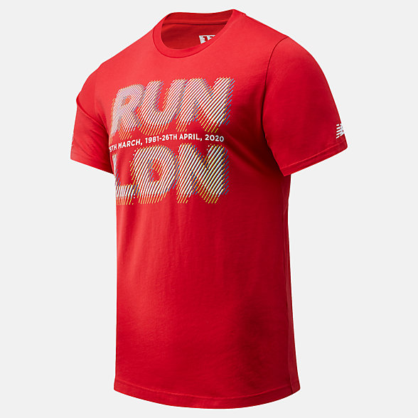 NB London Edition Run LDN Graphic Tee , MT01603DREP