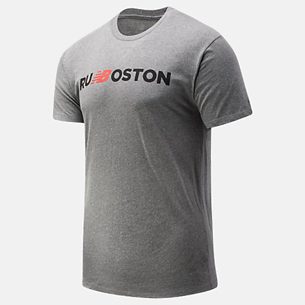 New Balance Run Boston Graphic Tee, MT01603ZAG image number null