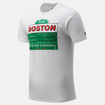 New Balance Boston One Mile To Go Graphic Tee, MT01604ZWT image number null