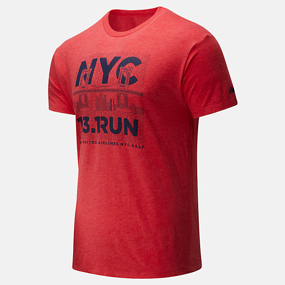 New Balance 2020 United Airlines Half Bridge Tee, MT01611CREP