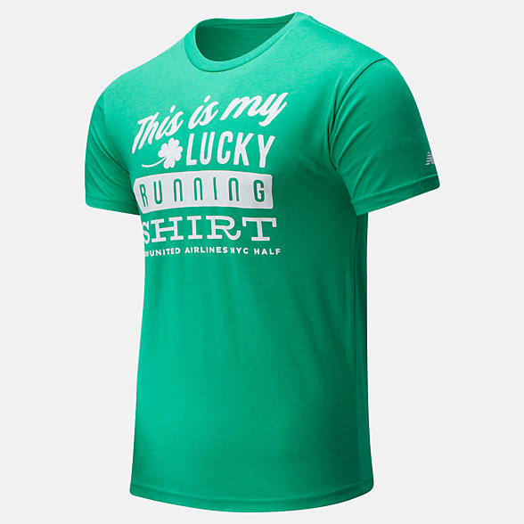 New Balance 2020 United Airlines Half St. Patrick's Day Tee, MT01617CMG3