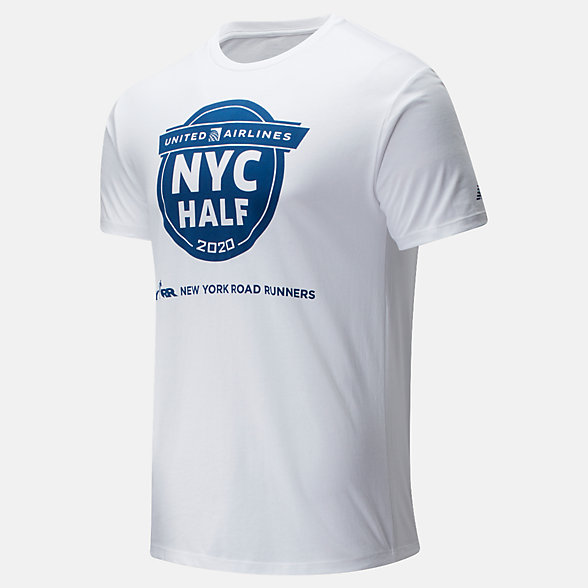 New Balance 2020 United Airlines Half Finisher Map Tee, MT01619CWT