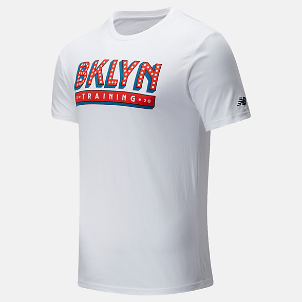 New Balance Popular Brooklyn Half Training Tee, MT01620FWT