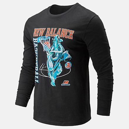 New Balance NB Basketball Manmyth Long Sleeve, MT01672BK image number null