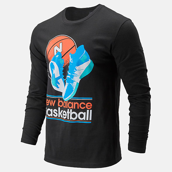 New Balance NB Basketball Wild Long Sleeve, MT01673BK