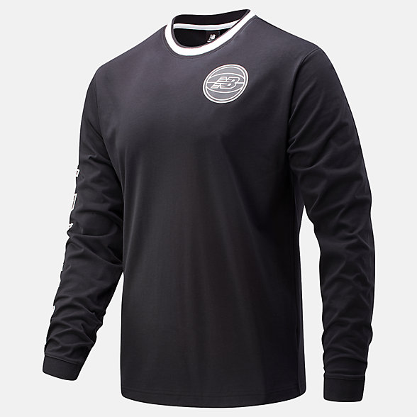 New Balance NB Basketball First Light Long Sleeve Tee, MT01678BK