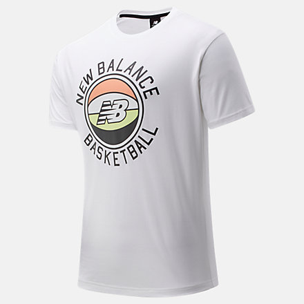 New Balance NB Basketball First Light Tee, MT01681WT image number null