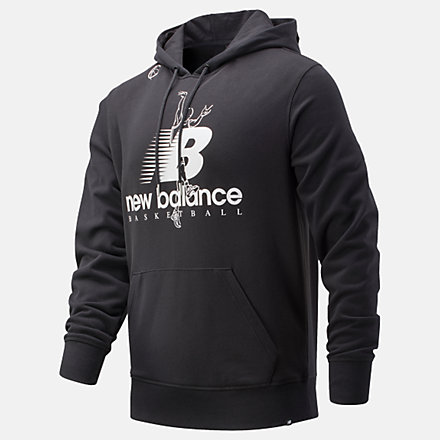 New Balance The Shot Hoodie, MT01682BK image number null