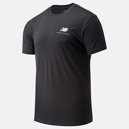 New Balance NB Basketball Finisher Graphic Tee, MT01783BKW image number null