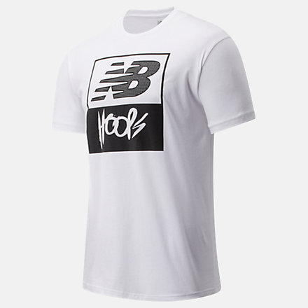 New Balance NB Basketball Finisher Graphic Tee, MT01783WM image number null