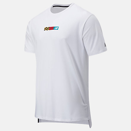 New Balance R.W.T. Graphic Heathertech Tee, MT03062WM image number null