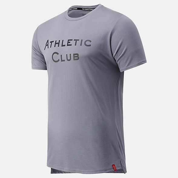 NB Athletic Club Travel Graphic Tee, MT031125GNM