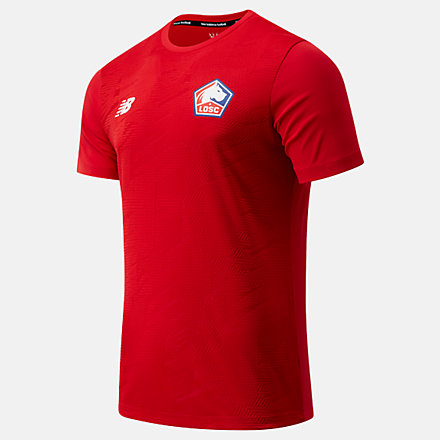 NB Lille OSC Pre-Game Short Sleeve Jersey, MT031161TRE image number null