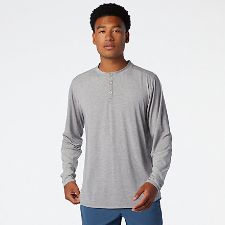 New Balance Fortitech Henley, MT03144AG image number null