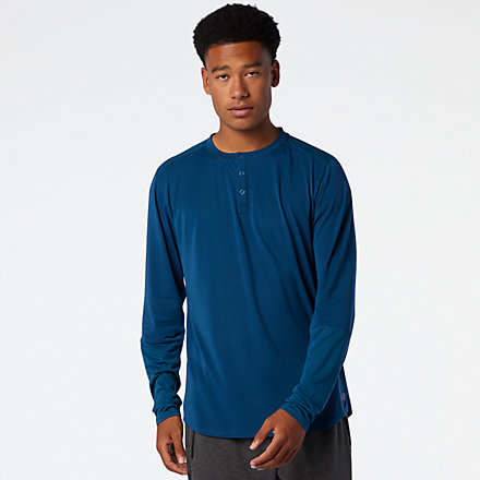 New Balance Fortitech Henley, MT03144RGV image number null
