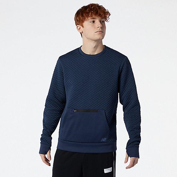 New Balance 男款保暖运动卫衣, MT03156NGO