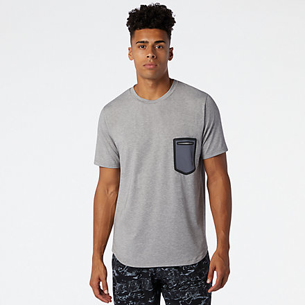 New Balance Fortitech Pocket Tee, MT03173AG image number null