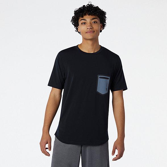 New Balance 男款Fortitech口袋T恤, MT03173BGR