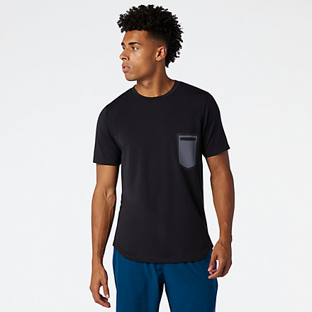 New Balance Fortitech Pocket Tee, MT03173BK image number null